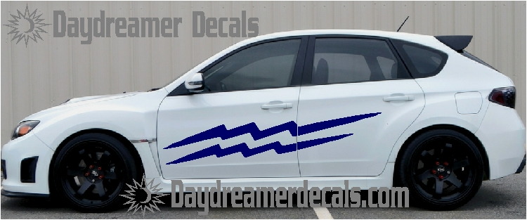 Unique lightning car graphics by daydreamer decals